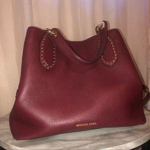 MK Brooklyn Large Leather Satchel